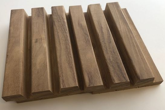 planch.n°18 triple afrormosia 34x145mm (7.50lm/m²)